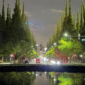 iPhone12で、夜景撮影