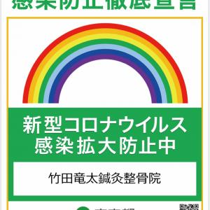 東京都 新型コロナウイルス感染拡大防止ステッカーを取得