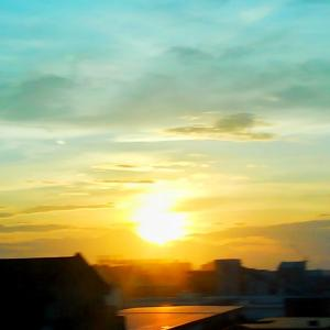 本日の夕日