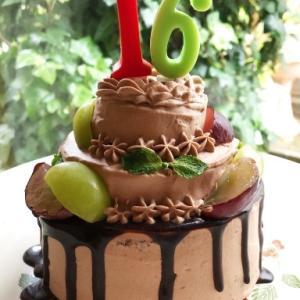 16歳の生チョコ3段ケーキ