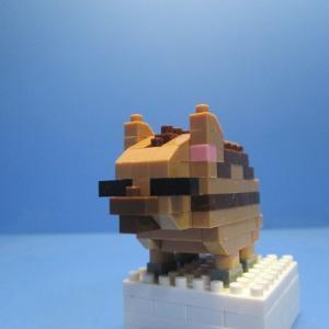 そろそろ出番の「うり坊」をナノブロックで作ってみた!