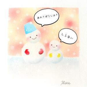 雪だるま親子さん