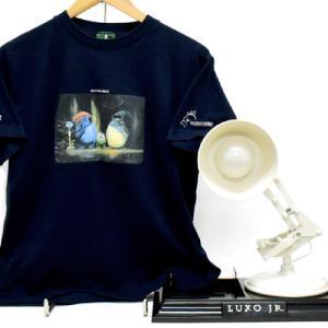 PIXAR/ピクサーの、LUXO JR./ルクソージュニアと、ジブリとの友情Tシャツ:)