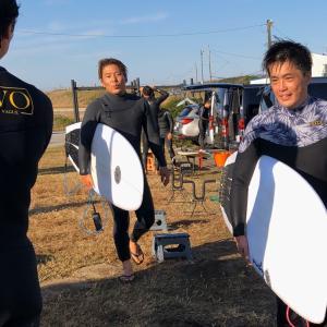 キラーサーフ湘南チームも千葉北でサーフィンを〜新モデルをオーダーありがとうございます〜♪