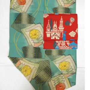 ピエロが潜む楽園「サーカス」の付け帯で、帯1本に着物3枚ゲーム?