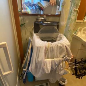 洗濯機を買い替えて、周りのお化け達もスッキリさよなら!