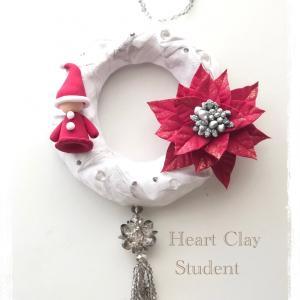 可愛いクリスマスリースも色違いで色々〜♡生徒さん作品♪