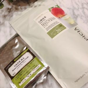 【食】美味しい夏のお茶 白桃煎茶、白桃烏龍茶