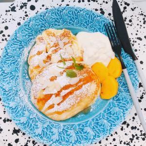 【食】休日のおやつはパンケーキ