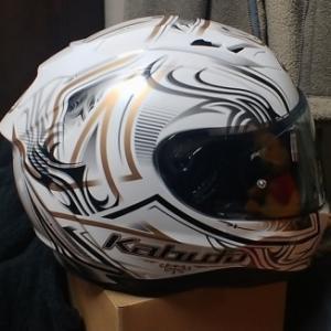 買ったヘルメットにアクセント^^v