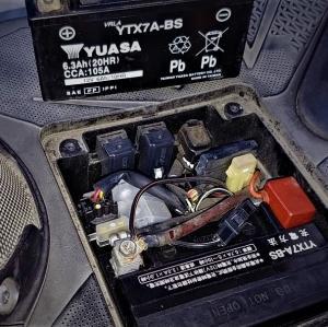 通勤快速君のバッテリー