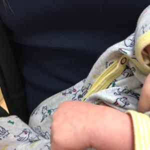 生後7週の赤ちゃんと一緒にマッサージに来て下さいました!