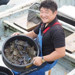 浜名湖雄踏市場はカニの季節だよ!雄踏漁師芳雄さんのタイワンガザミ