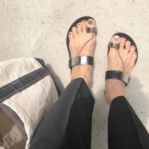 夏日の足元。。casadei.....