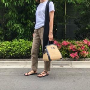 My コーデ♬ ユニクロTシャツ×APパンツ×華奢サンダルで大人カジュアル~