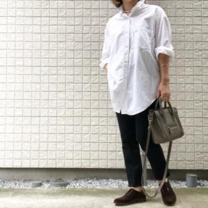 My コーデ♬涼しくなって大好きビッグ白シャツ~~