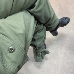 裾絞りパンツに足袋ブーツ♬ 足元クリア。。