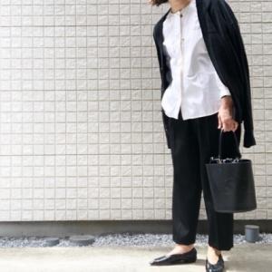 My コーデ♫白シャツ黒パンでお仕事モード。。。。