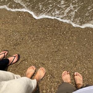 須磨海岸で夏の終わり。。