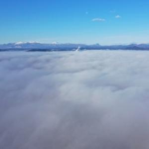 中通り平野部を覆う大雲海