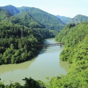 初夏の第三只見川橋梁