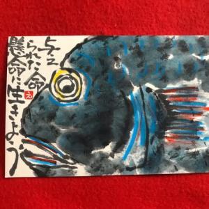 魚・絵手紙