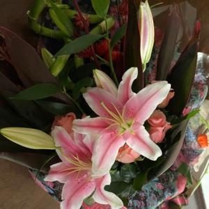 美しい花束が届きました!