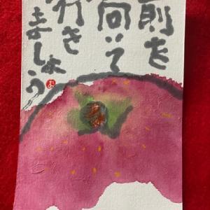 林檎・絵手紙