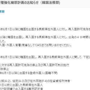 韓国長期滞在外国人、再入国許可取らないとビザすべてパー!~結婚移民・永住ビザも再入国許可必要に~