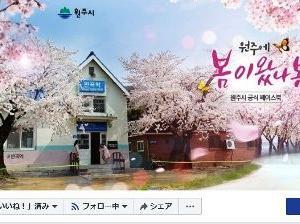 桜がきれいな江原道の田舎の駅~KORAIL中央線盤谷駅~