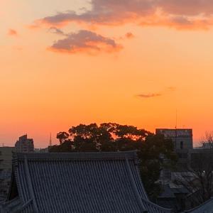 へこたれないコト...夕陽を見ながら考える(´-`).。oO