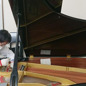 ピアノの弦交換(*◎ω◎*)