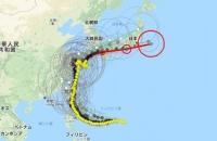 台風14号の予想進路
