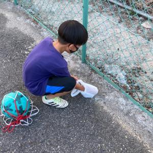 【夏休み中の次男の朝活】近所のゴミ拾い