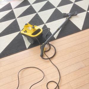 【秋の大掃除】ケルヒャースチームモップで床の大掃除