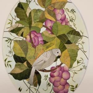 小鳥とブドウ