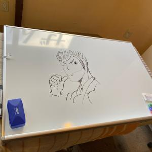ルパンと安西先生を描いてみた
