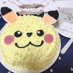 お誕生日♡ピカチュウのケーキ