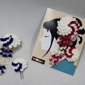 袴に合うつまみ細工の髪飾り