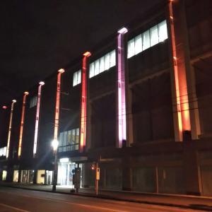 岩手教育会館のライトアップ