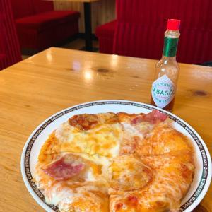 コメダ珈琲で初めてのピザ~♡