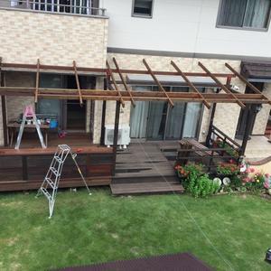 ウッドデッキ屋根DIY 2