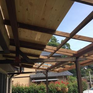 ウッドデッキ屋根DIY 5