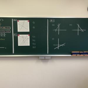 中2数学は1次関数パート。