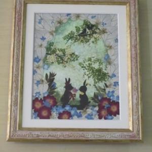 森の動物シリーズ・うさぎ(押し花)