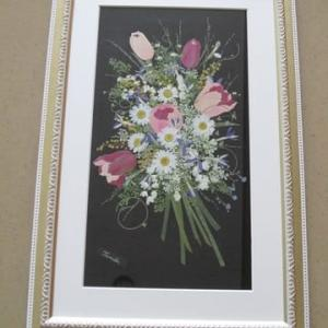 チューリップの花束(押し花)