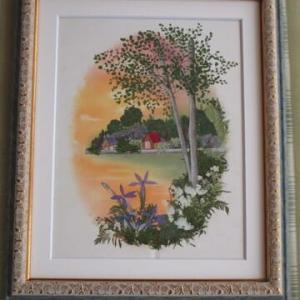 ヨーロピアン風景画(押し花)