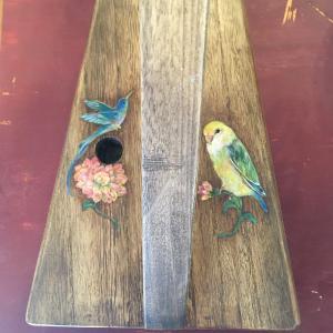 インコと青い鳥、ダリアのハープ