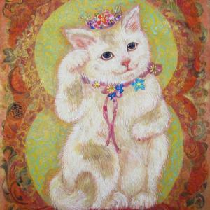 招き猫 花と宝