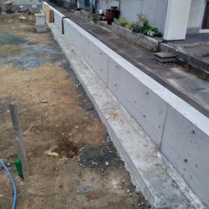 家づくり36日目 2019/10/7 北側擁壁完成&次は西